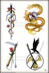 Weapons set by Aerin-Kayne