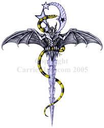 Dragon - Moon Ankh Dagger by Aerin-Kayne