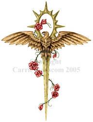 Eagle - Sun Ankh Dagger by Aerin-Kayne