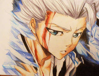 Toshiro Hitsugya drawing by Polaara