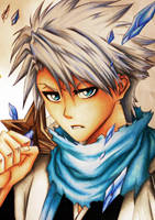Drawing Toshiro Hitsugaya (new look ) by Polaara