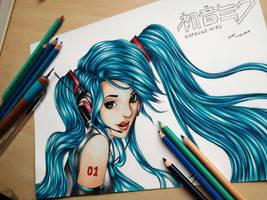 Hatsune Miku by Polaara