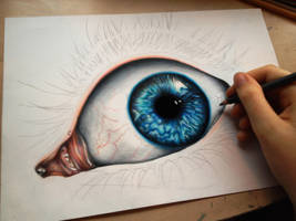 Incomplete - eye II by Polaara