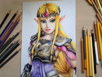 Princess Zelda  -Hyrule Warriors by Polaara