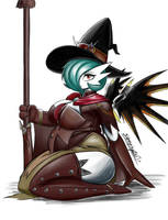 Gardevoir as a Witch by SleepingEel