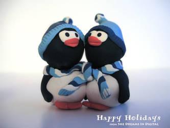Holiday Penguins by Sya