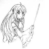 Sheryl - sketch by RaikonKitsune