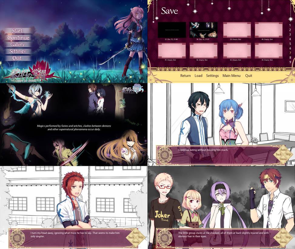 Reimei no Gakuen Demo - Screenshots by RaikonKitsune