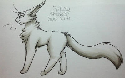 . : Shaded Fullbody Example : 300 pts : . by xX--Stormy--Xx