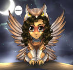 Drawing Owl Persona by Vesenia