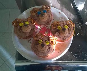 Reindeer Cupcakes by BansheeInTheOrchard