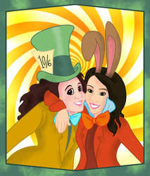 Miss Hatter and Miss March Hare by BansheeInTheOrchard