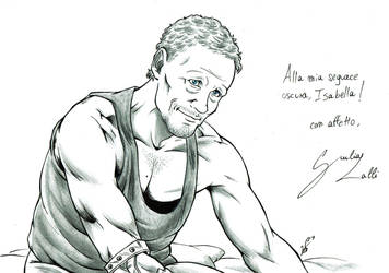 Commssion - the walking dead - Merle by giulal