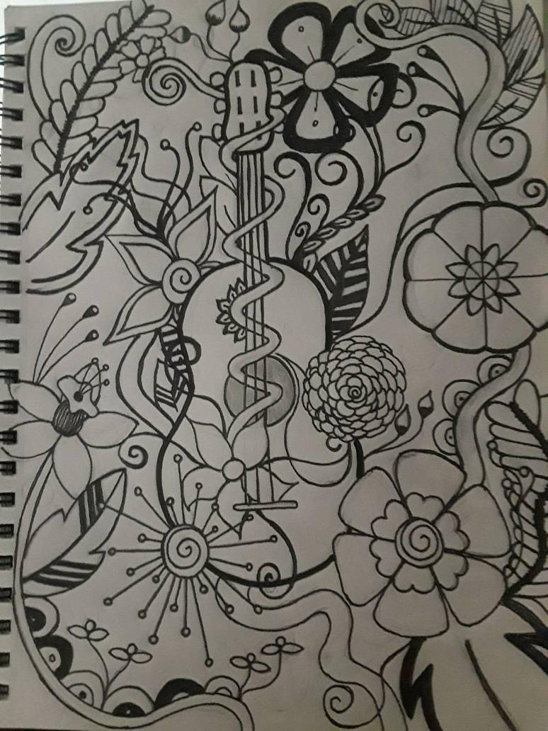 guitar doodle by texasjgirl