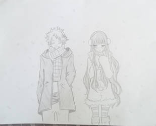 Natsu and Lain by AliezZee