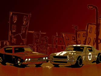 Cars in the city by V4mpir-C4t