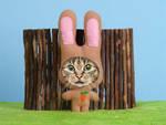 Tiffys temp job - easterbunnycat by hoschie