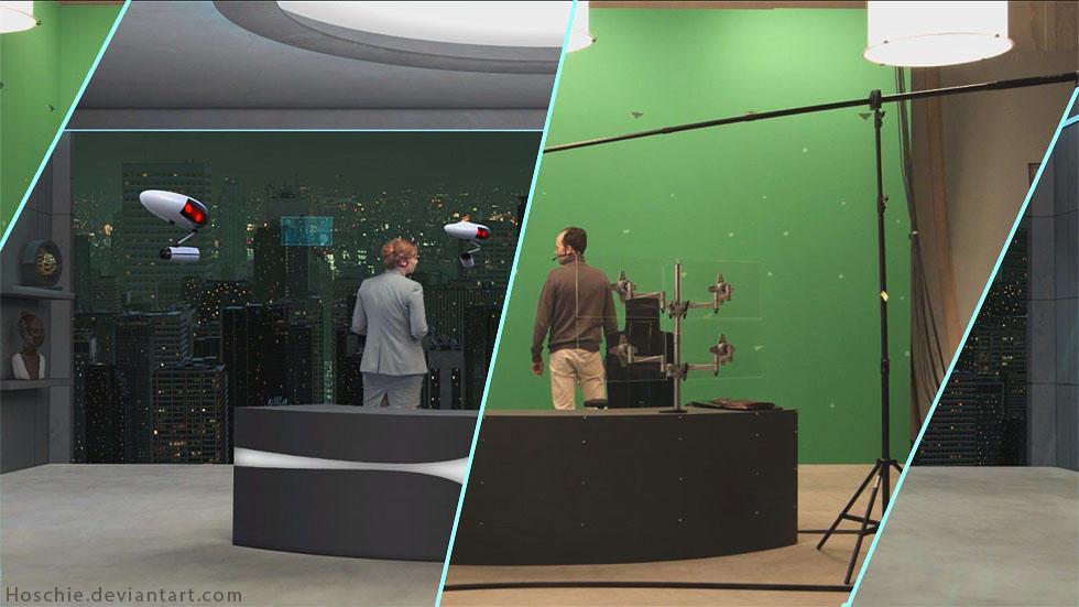 Virtual Setdesign for vfx production by hoschie