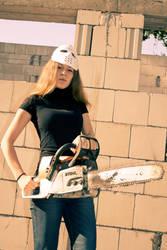 Helena with chainsaw 8 by Medniex