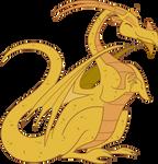 Dragon dorado MLP by Ellittest