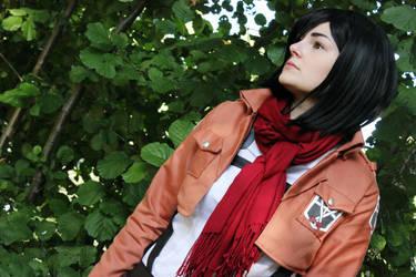 Trainee Mikasa Ackerman by chestoberry