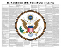 Constitution of United States by postertext