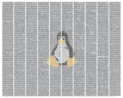 The Linux kernel by postertext