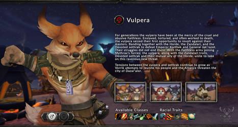 Vulpera Allied Race Splash page by VulperaCaravan