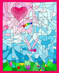 LoveIsInTheAir..mosaic-like by TheFightingGoddess