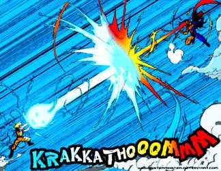 Goku Vs Superman by spidermoiz