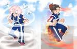 [BnHA OCs] U.A. Sports Festival - Yorumi vs. Shira by HaruHara16