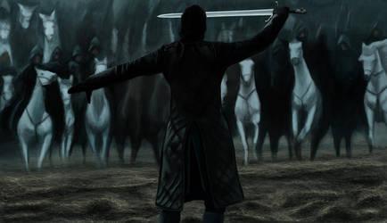 Battle of the Bastards - Jon Snow by Armaan8014