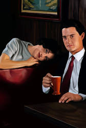 Twin Peaks Painting - Audrey and Dale Cooper by Armaan8014