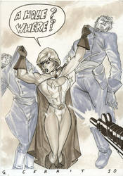 Power Girl - Holes everywhere by hoppers13
