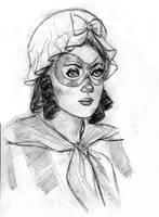 Patriot Woman Portrait by hoppers13
