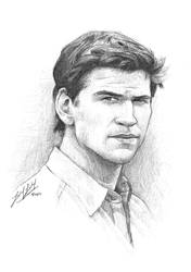 Liam Hemsworth as Gale Hawthorne by friedChicken365