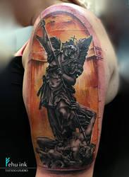 St Michael tattoo by ellegottzi