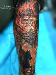 Fire King tattoo by ellegottzi