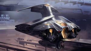 Dune redesign: guild navigator ship by SimonDubuc