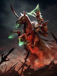 Horsewoman of war by SimonDubuc