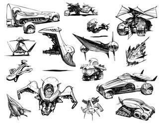 Vehicle designs by SimonDubuc