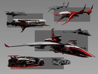 Dracula vehicles 1 by SimonDubuc