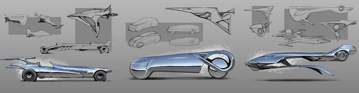 Silver Surfer vehicles by SimonDubuc