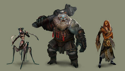 Fantasy characters by SimonDubuc