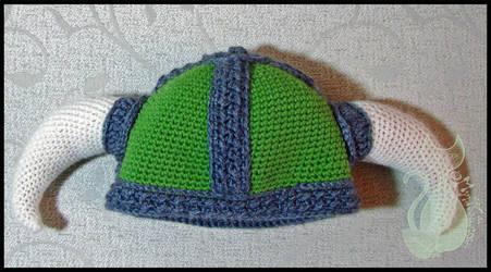 Green Viking Hat by MyntKat