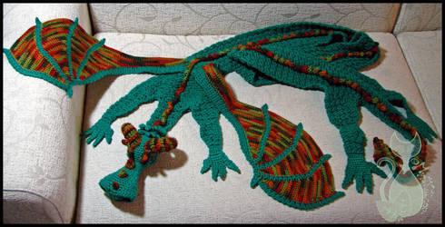 Green Dragon Scarf by MyntKat