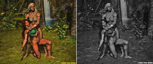 Jungle Training 8 - Color vs Black and White by TNoire