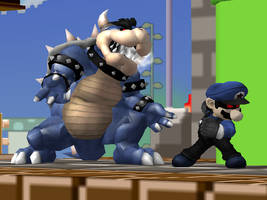 Dark Bowser :: Dark Mario by Steelia