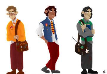 Marauders Era - Lupin, Sirius Black and Snape by Giorgia99