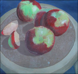 Apples on a Stool by Syk3